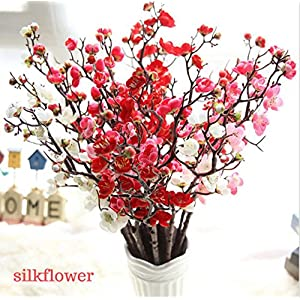 Wondere Artificial Flowers, 'Petals Feel and Look like Fresh Plum Blossom Floral' Artificial Flower Bouquet Floral Arrangement, Perfect for Wedding, Bridal, Party, Home, Office Décor DIY 58