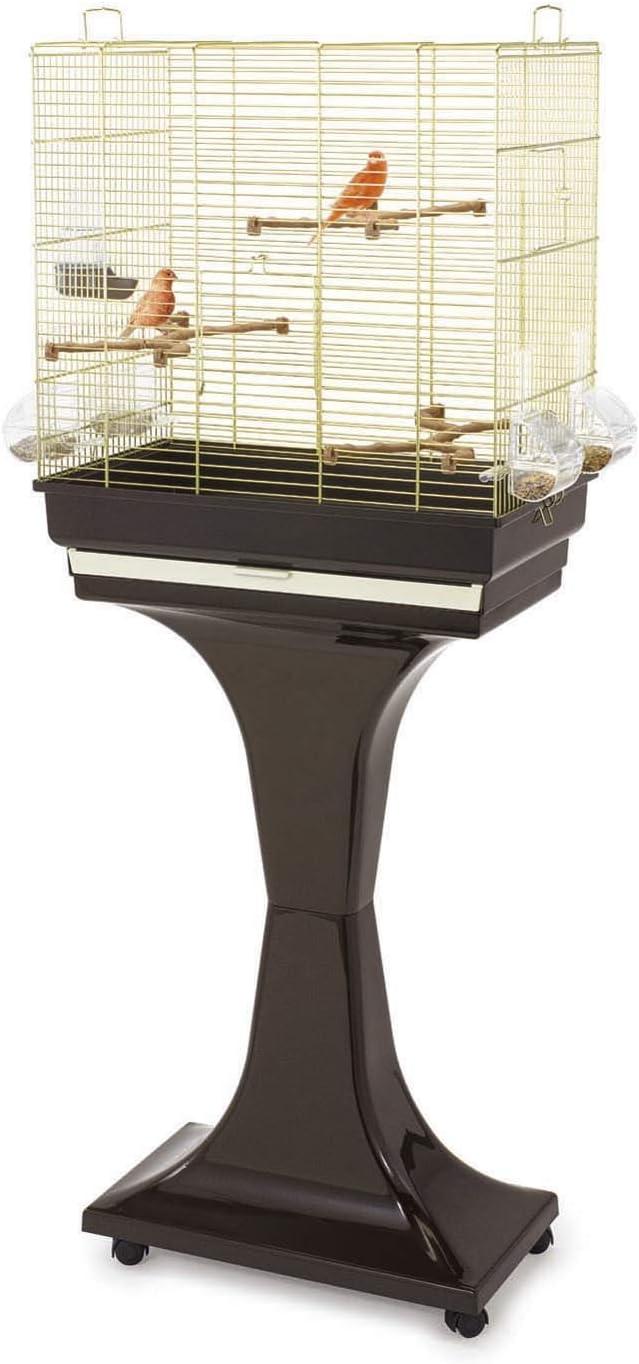 IMAC Jaula Pájaros - CAMILLA, 50 x 30 x 57/129 cm, Dorado-Marrón, Pájaros