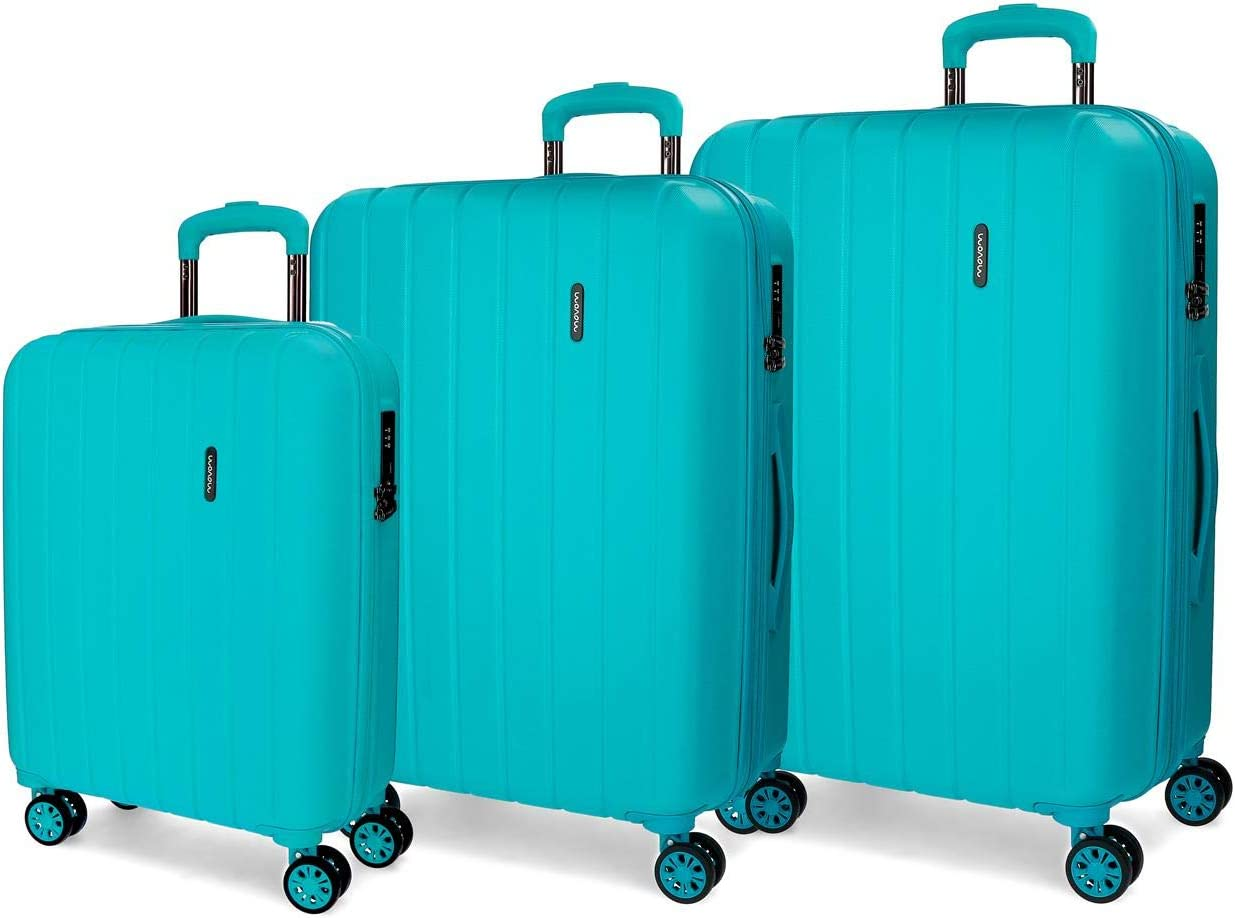 Movom Wood 5319467 Juego de Maletas, 75 cm, 220 Litros, Azul