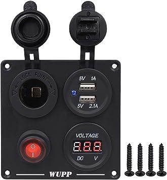 Amazon.com: WUPP - Panel de interruptor para barco con ...