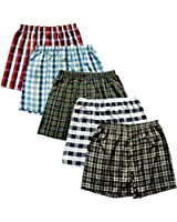 Del Rossa Men's Satin Pack of Five (5) Boxer Shorts, Variety Sets of Underwear