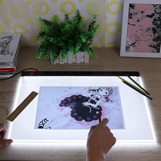 Caja De Luz A3 Tableta Digital Gráfica Led Para Dibujar Muestra Panel De Pantalla Plantilla Luminosa Tablero De Copia Gráfico Arte Fino: Amazon.es: Hogar