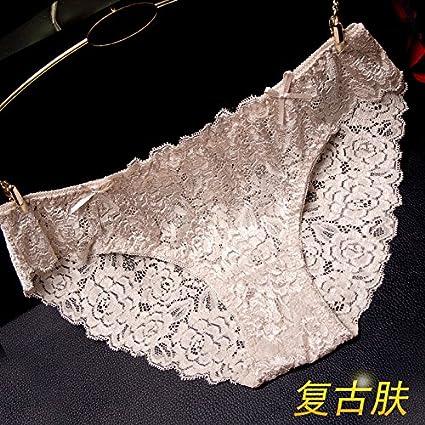 RRRRZ*tejido de encaje ropa interior femenina mayor sentido de tentación para no marcar la