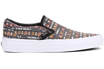 5a001dc043 Image Unavailable. Image not available for. Color  Vans Unisex Classic Slip-On  Nintendo Zelda Black