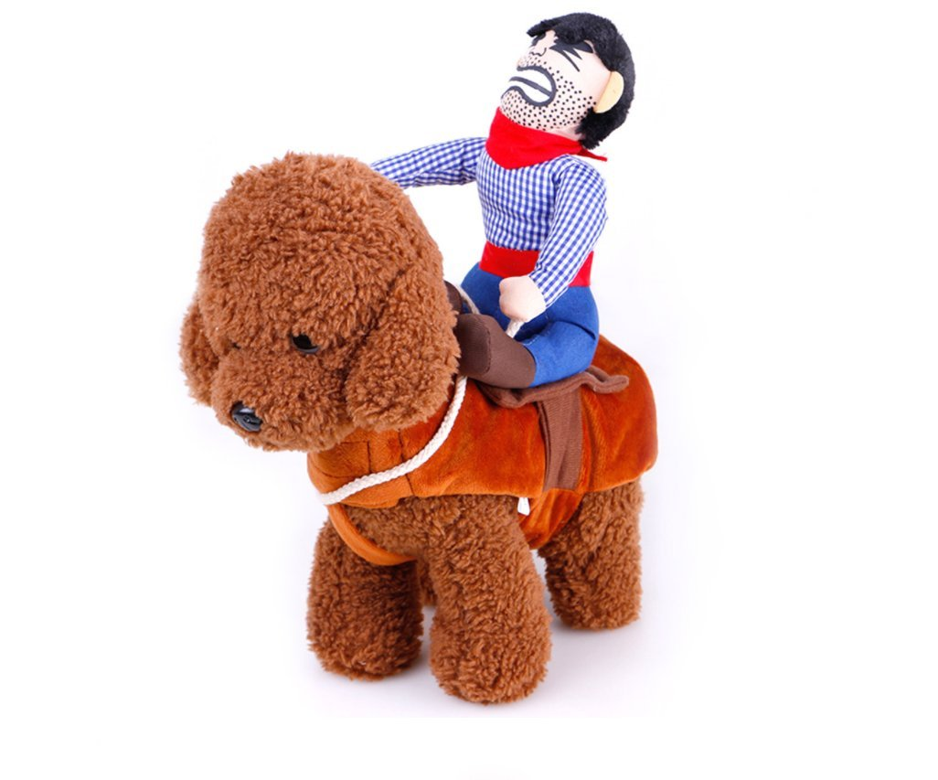 Tie langxian Pet Costume Dog Costume Clothes Pet Outfit Suit Cowboy Rider Style,Pet Dogs Cospaly New Year Gift L, Hat