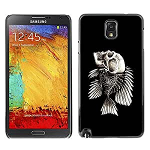 GagaDesign Phone Accessories: Hard Case Cover for Samsung Galaxy Note 3 - Fish Skeleton