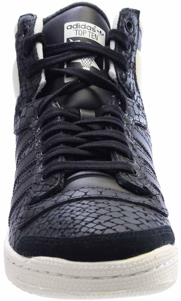 adidas Women's Top Ten Hi Black/White S75135 (Size: 8) by adidas (Image #5)