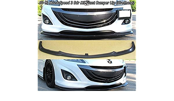Fits 10-13 Mazda MazdaSpeed 3 5dr Urethane MS Style Front Lip