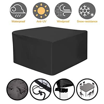 """NASUM Patio Furniture Covers, 50"""" L x 43"""" W x 35"""" H, Rectangular Table Cover, Fire Pit Cover, Side Table Cover, Waterproof Outdoor Furniture Cover : Garden & Outdoor"""