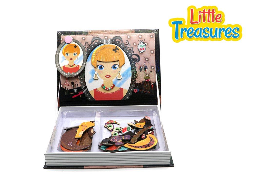 Little Treasures 90-Pcs Magnetic Dress-Up Puzzle Toy Book Set for Kids Ages 3 Plus