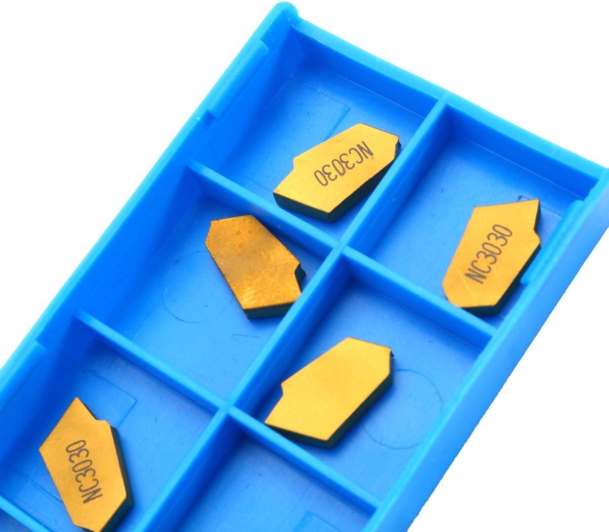 10PCS 3MM GTN3 CNC Parting Off Tips Inserts Carbide Part Off Cutting Tools Kit