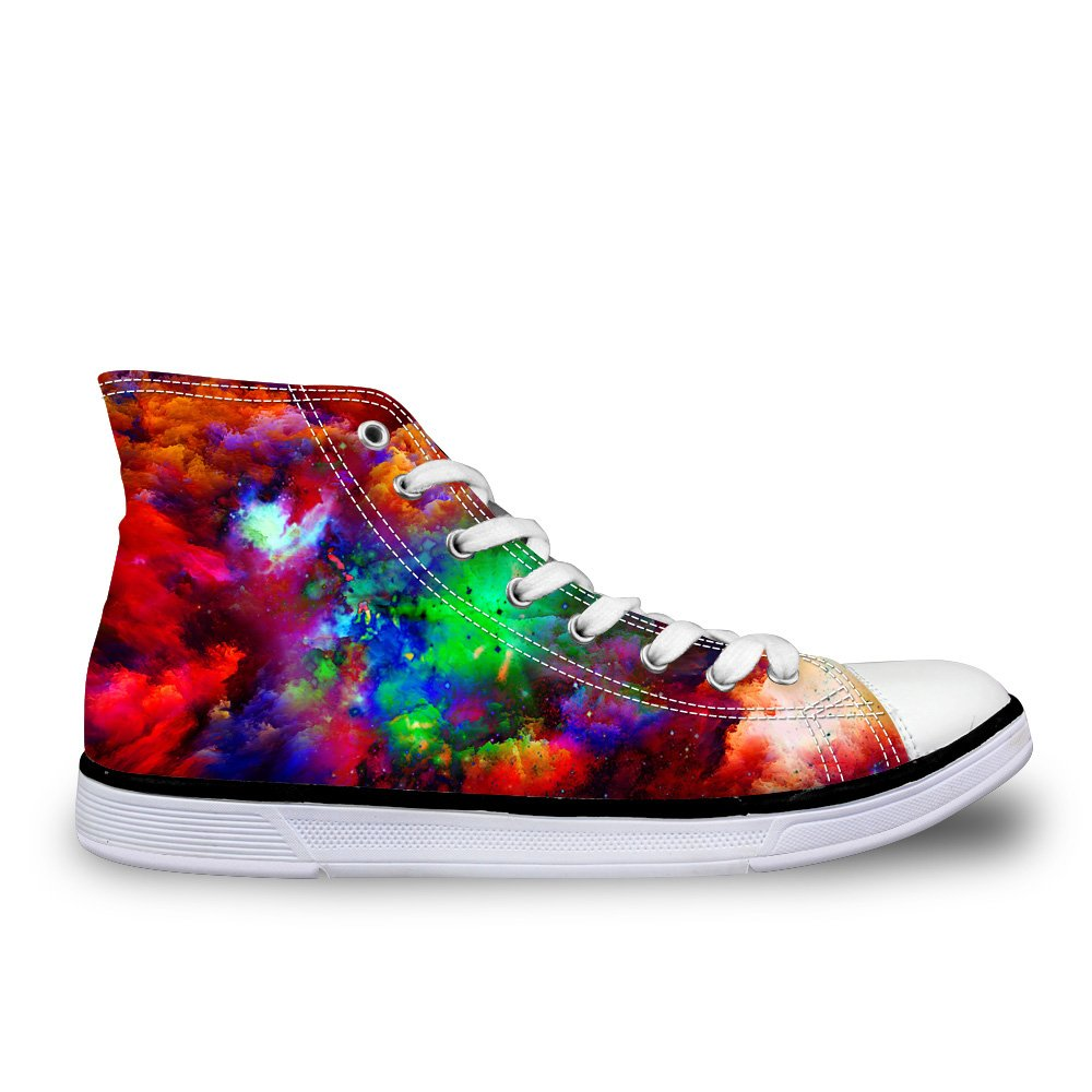 LedBack High Top Galaxy Canvas Shoes for Women Causal Sneakers Teenagers Girls Lightweight 3D Trainers B079HQ13NR Size 8.5=Eur 40 Design 5