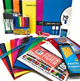 Back to School Bundle First to 5th Grade School Supplies Set, Elementary Middle School and College Students Supplies, Office Essentials Kit