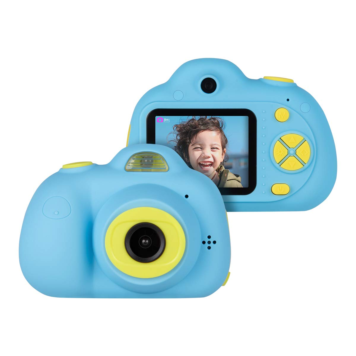 Kids Cameras Dual Selfie Digital Camera HD Video Recorder Action Camera Camcorder for 4-9 Year Old Kids Birthday Festival Gifts Toys for Children Boys Girls 2.0'' LCD Screen 4X Digital Zoom (Blue)