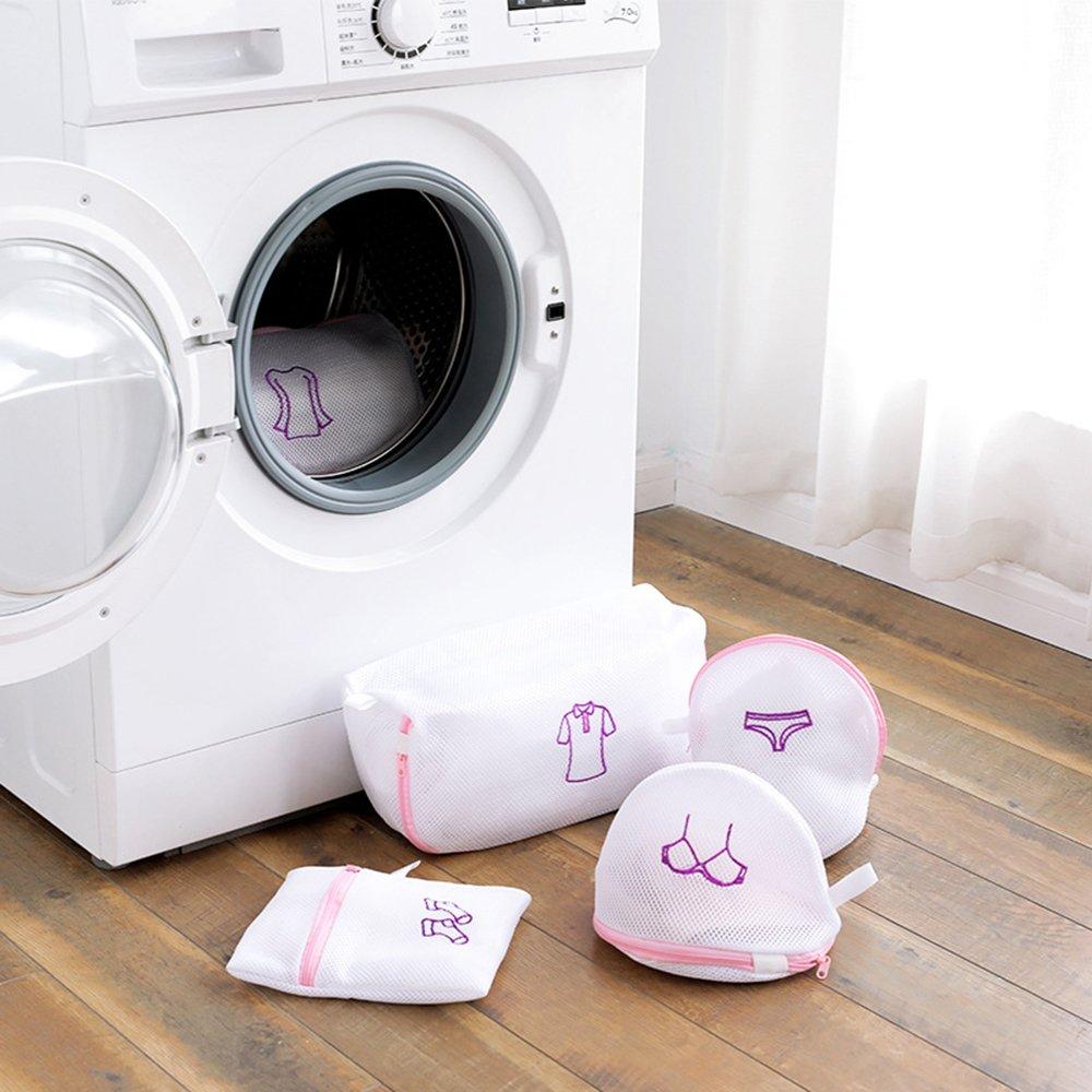 GUOYIHUA Bolsas de lavandería de malla con cremallera, plegables, para sujetador, ropa interior, lavadora, ropa, red de protección, malla, for Blouse