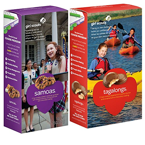 Samoas & Tagalongs Girls Scout Cookies - 2018 - 6 Boxes (3 boxes ()