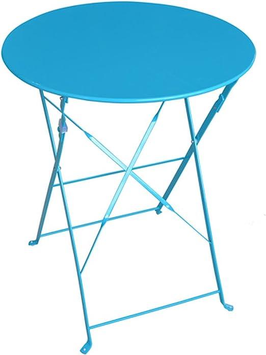 Hespéride Table Ronde Pliante Camargue - 2 Places - Bleu ...