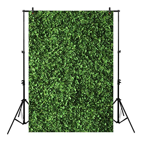 Allenjoy 5x7ft Fabric Green Floral Leaves Backdrop for Photo Studio Photography Still Life Grass Leaf Pictures Background Summer Spring Jungle Party Home Decor Outdoorsy Theme Shoot Props Drop