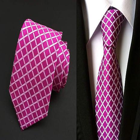 NSLDQ Corbata Corbatas Moda para Hombre Corbata 8 cm Azul Corbata ...