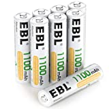 EBL 8 Pack AAA Ni-MH Rechargeable Batteries AAA