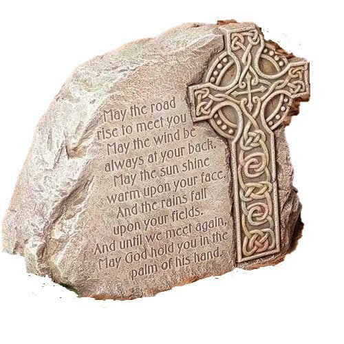 Celtic Cross Garden Stone - Irish Blessing