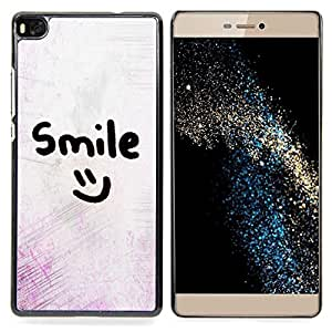 /Skull Market/ - Smile Motivational Smiley Emoticon For HUAWEI P8 - Mano cubierta de la caja pintada de encargo de lujo -