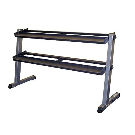 Body Solid - Mueble para mancuernas (2 estantes, ancho de 157,48 cm