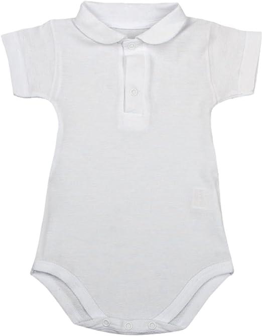 BabyVip Body Polo Bimbo Neonato Mezza Manica Piquet Non Elasticizzato