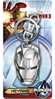 Marvel Avengers Iron Man 3 Mask - Collectors Pewter Keychain - Keyring