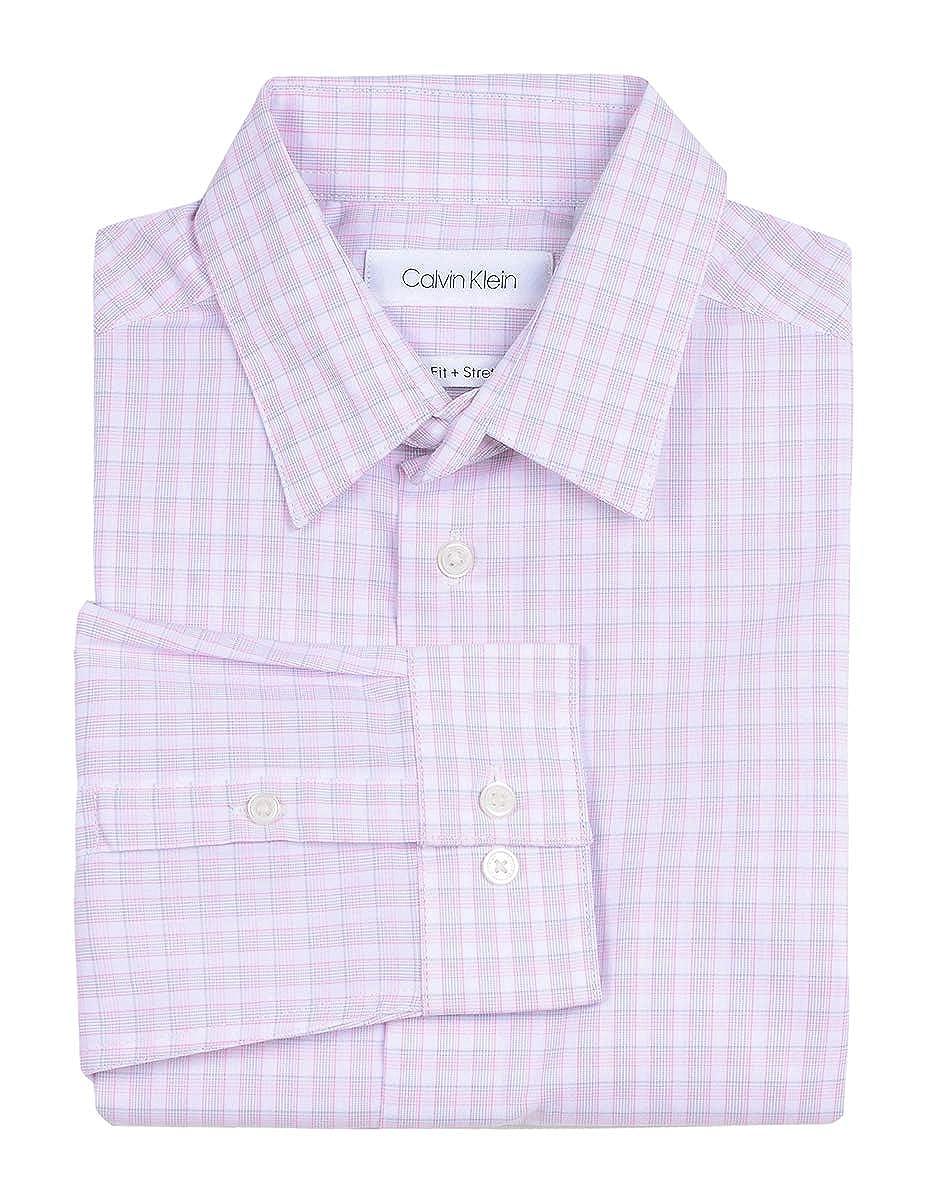 ab3874388 Amazon.com: Calvin Klein Boys' Long Sleeve Plaid Button-down Dress Shirt:  Clothing