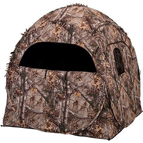 - Ameristep 1RX2S010 Doghouse Spring Steel Ground Hunting Blind Realtree XTRA Camo