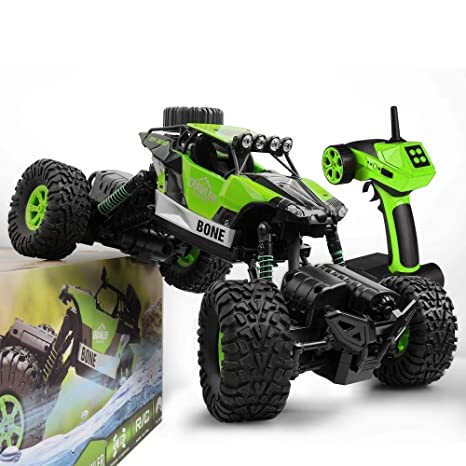 GizmoVine RC Coche Teledirigido Rock Crawler 4WD 2.4GHz Camión de Control Remoto Vehículo Alta Velocidad