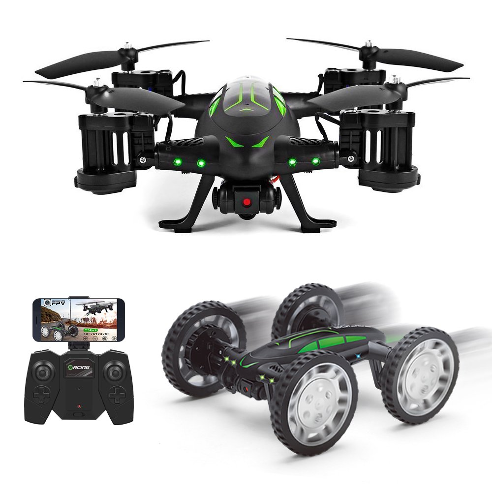 Drone Con Cámara 2MP FPV Air-Ground RC Quadcopter Por Tierra ...
