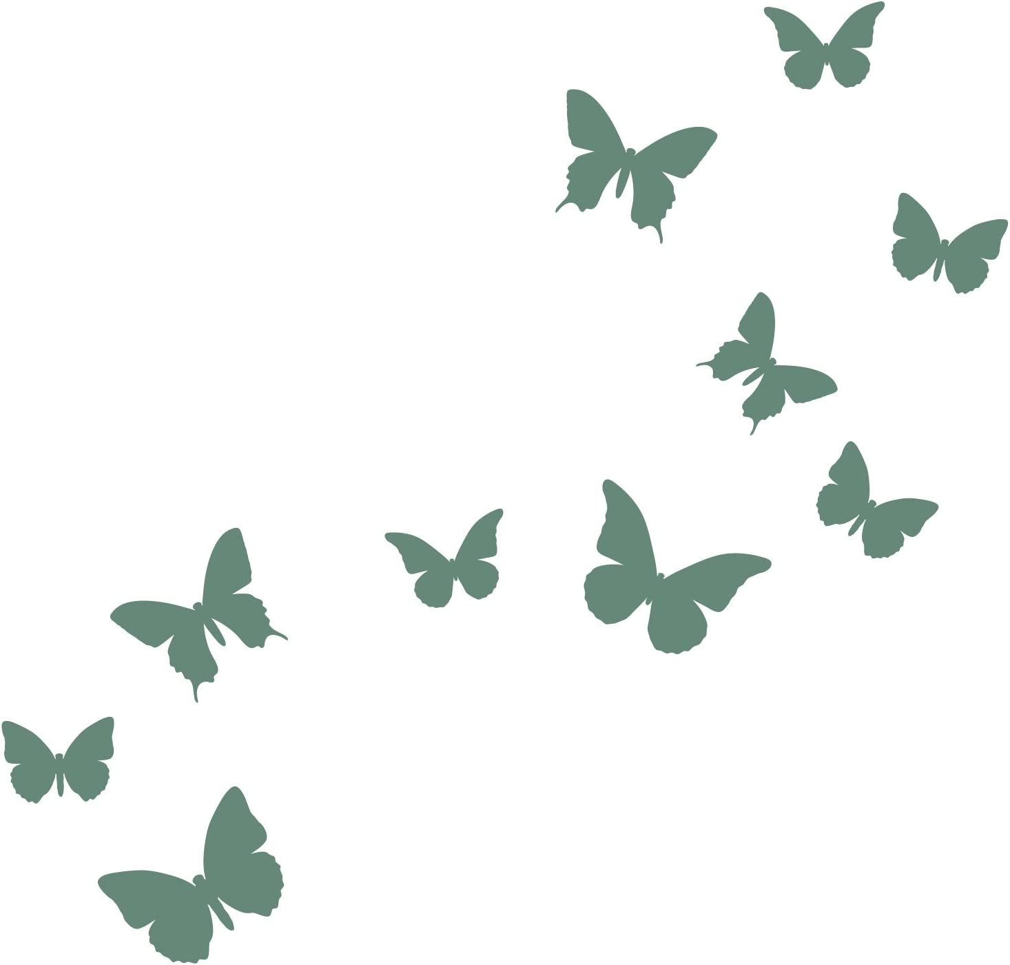 Classic Butterfly Wall Stickers by Stickerscape Pure White