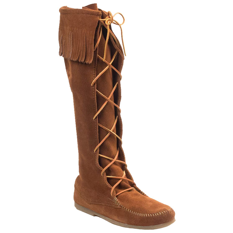 Minnetonka Men's Front Lace Knee Hi Boot, Brown, 11 M US by Minnetonka