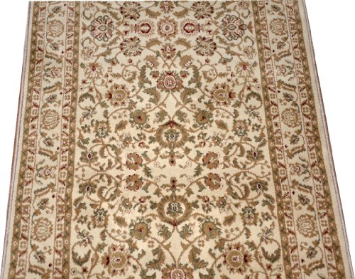Bergama Runner Rug - Dean Bergama Ivory Carpet Rug Hallway Stair Runner - Purchase by the Linear Foot