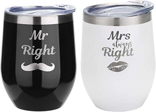 Amazon Com Fayerxl Personalised Wine Trumbler For Bride And