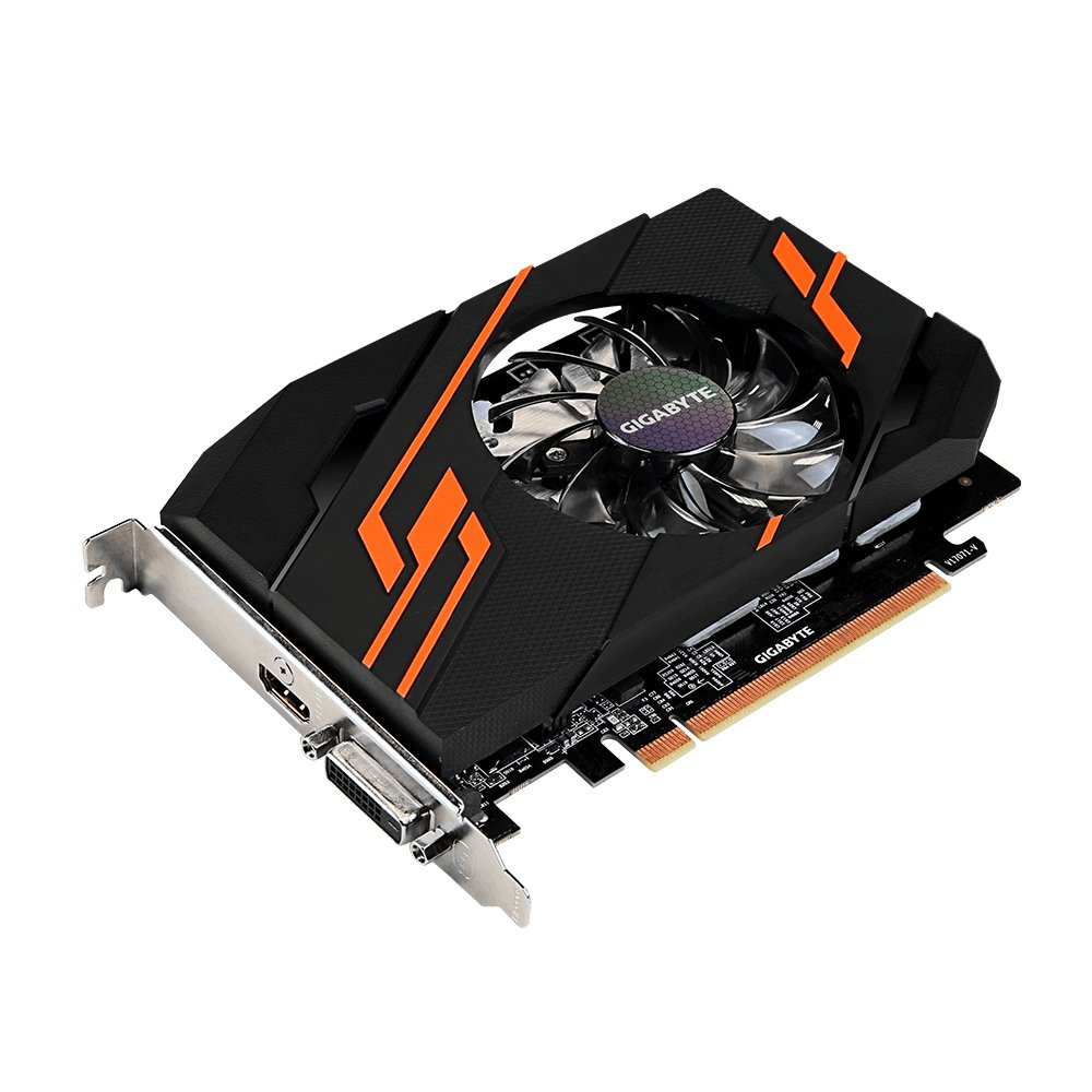 Gigabyte GV-N1030OC-2GI GeForce GT 1030 2GB GDDR5 - Tarjeta gráfica (NVIDIA, GeForce GT 1030, 4096 x 2160 Pixeles, 1265 MHz, 1518 MHz, 4096 x 2160 ...