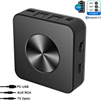 Abafia Bluetooth Adapter 5.0, Bluetooth Adapter Audio Kabellos 2 in 1 Transmitter Empfänger aptX/aptX HD aptX LL 3,5mm RCA Audio Kabel, Sender Receiver für Kopfhörer TV PC Mobile Phone Laptop PC