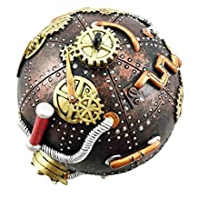 Steampunk Cool Time Bomb Orb Spherical Capsule Gearwork Jewelry Box Figurine