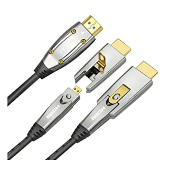 Jeirdus 1 5meters Aoc Hdmi Faser Kabel 18 Gbit S High Speed Unterstützt 4 K60hz Mit Kleinen Micro Und Standard Hdmi Stecker Einfach Zu Rohr Routing Gewerbe Industrie Wissenschaft