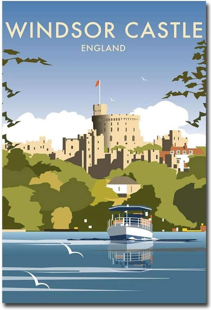 """Windsor Castle England Travel Vintage Refrigerator Magnet Size 2.5"""" x 3.5"""""""