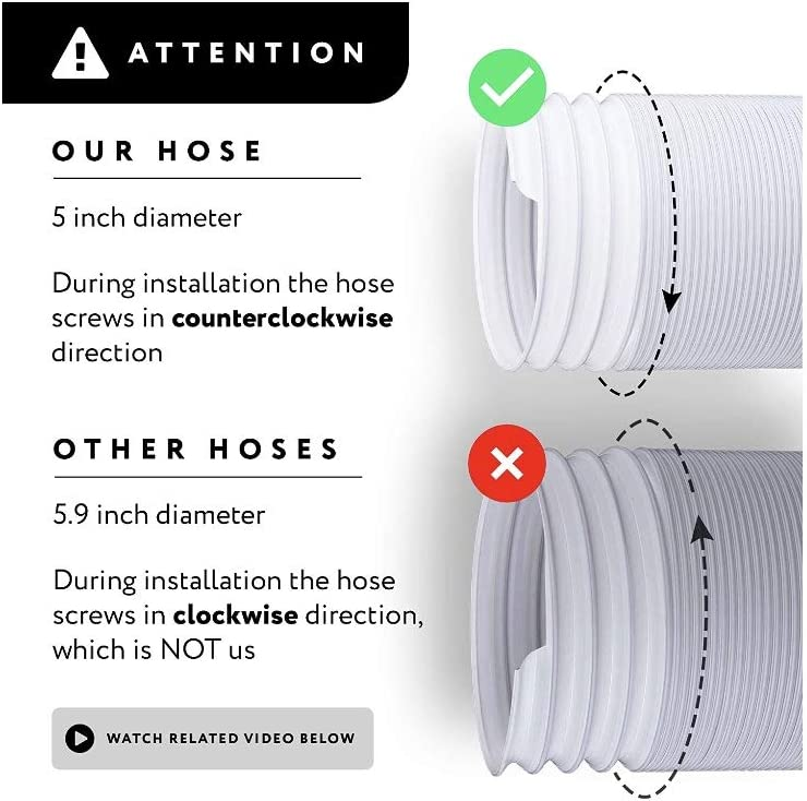 zero arrows Air Exhaust Hose 5 inch in Diameter and 59 inch Extendable.