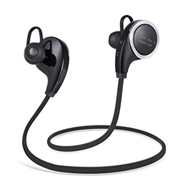 TOPLUS QY8 Auriculares Bluetooth 4.1 con Mic y Reducción de Ruido Casco Deportivo In-ear para iPhone, iPad, iPod y Móviles Android: Amazon.es: Electrónica
