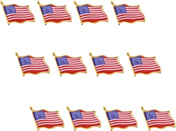 12 Pack Antner American Flag Lapel Pin