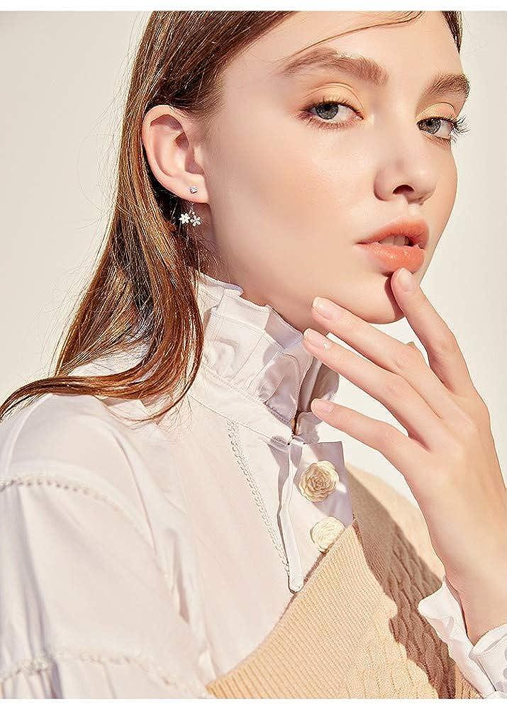 LSDAMW Earrings For Women Drop Dangle Girls Simple Post-Hanging Flower Small Earrings Atmosphere High-End Ladies Jewelry Earrings Light And Beautiful Jewelry