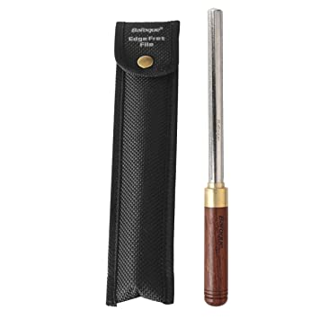 3 in 1 Guitarra Fret Crowning Dressing File con mango de madera Estrecho/Medio/Ancho 3 Bordes Reparación de Guitarra Fret File Luthier Tool: Amazon.es: ...