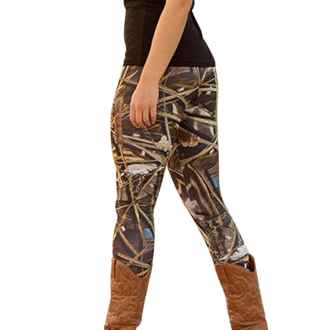 GBSELL Women Bull Arrows Printed Stretchy Pants Leggings Sport Casual