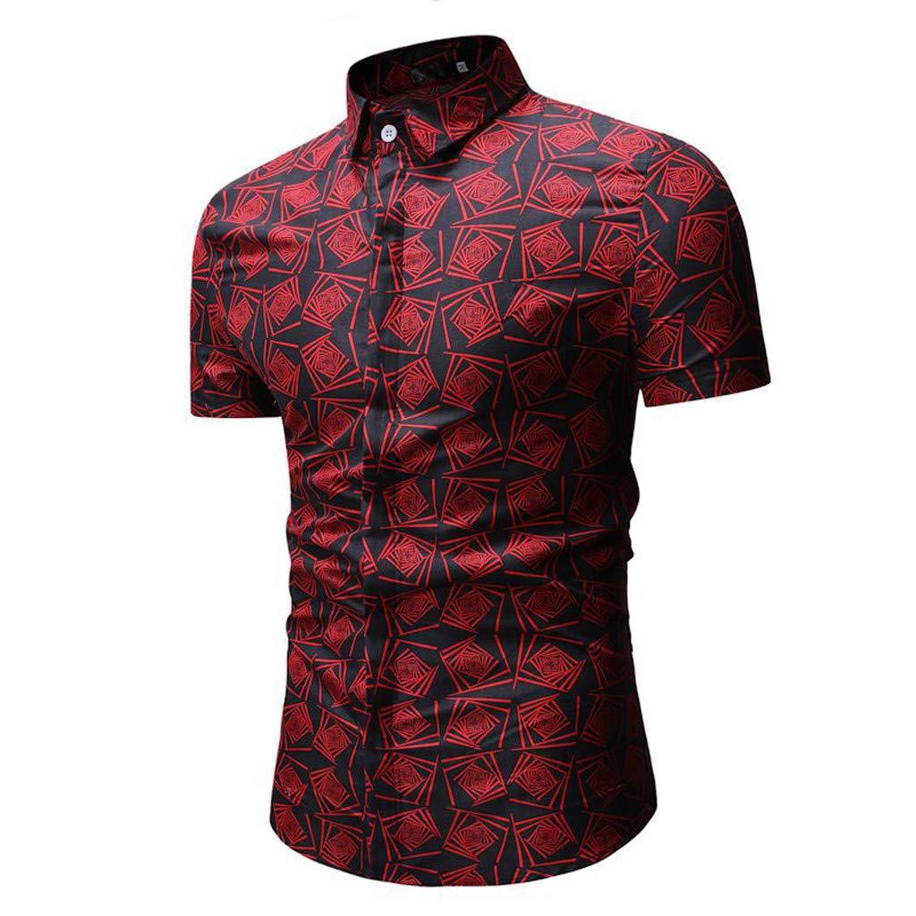 New 2019 Dude I Like it!/ Men Casual Summer Printed Button Short Sleeve Hawaiian T-Shirt Top Blouse Hot