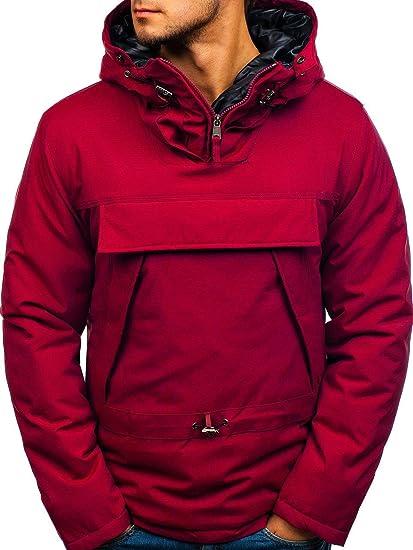 BOLF Giubbotto Invernale – con Cappuccio – Infilabile dalla Testa – Tasca  Canguro – Stile Sportivo 349c761d8d1